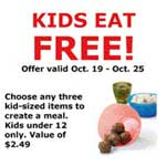 ikea free Kids Eat Free at Ikea thru 10/25