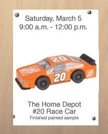 home-depot-race-car