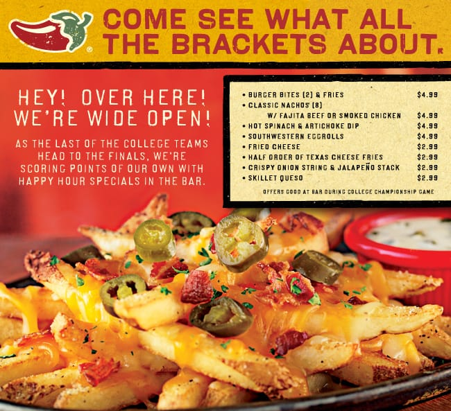 graphic relating to Printable Chili's Menu referred to as March Insanity Championship Bar Menu at Chilis