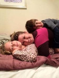 Mom-kid-pile