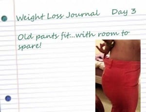 3 notebook paper 300x231 Weight Loss Day 3: Pants Fit Again!