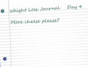 4 notebook paper 300x231 More cheese please? Life transformation Day 4