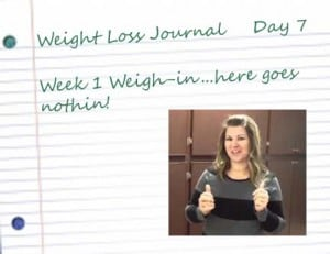 7 notebook paper week 1 300x231 Week 1 Weigh In at Blue Sky MD