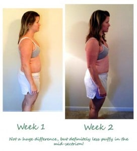 week 1 2 comparison 272x300 Week 1 Weigh In at Blue Sky MD