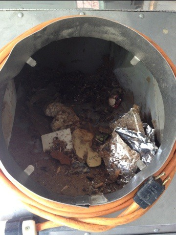 A closer look at what came out of our ducts!