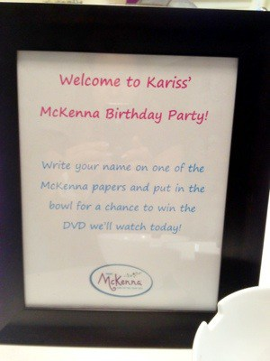 20120711 140733 American Girl McKenna DVD Birthday Party for Kariss!