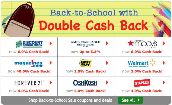 Ebates Back to School Deals