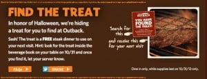 halloween2012 findthetreat 300x115 Outback Free Steak! Kids Eat Free at Outback on Halloween