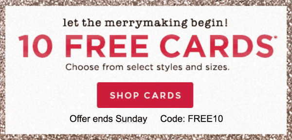 Get 10 Free Cards from Shutterfly