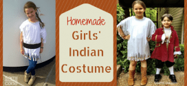 Girls Indian Costume Homemade by Daddy