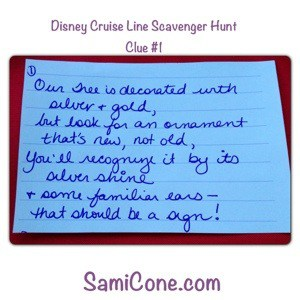 20121230 161433 A Disney Cruise Line Kids Scavenger Hunt Announcement on Christmas Day