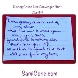 20121230 161526 A Disney Cruise Line Kids Scavenger Hunt Announcement on Christmas Day