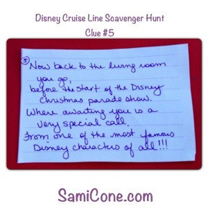 20121230 161541 A Disney Cruise Line Kids Scavenger Hunt Announcement on Christmas Day