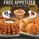 Free Outback Appetizer January 2, 2015