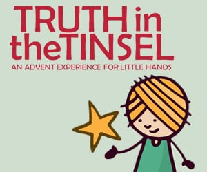 truthinthetinsel 300 250 Truth in the Tinsel Advent Book Discount