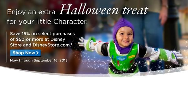 Disney Parks Merchandise Discount at DisneyStore.com- 15% off $50+