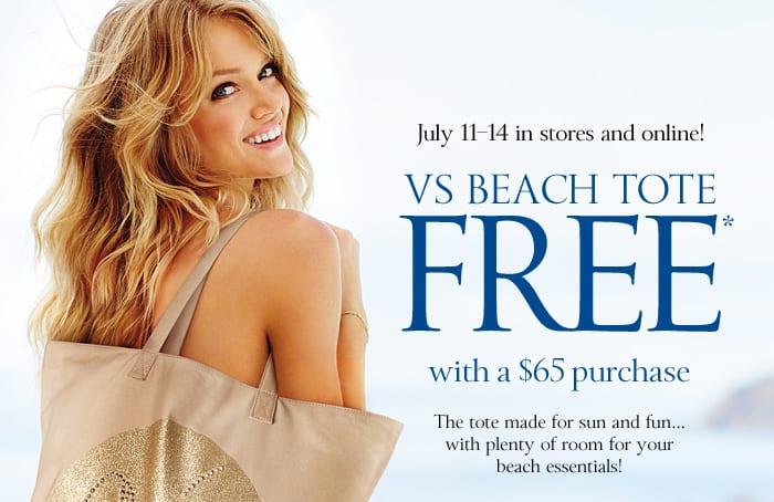 free victorias secret beach tote july 2013