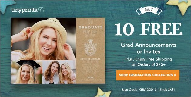 Affiliate10FreeGraduationBanner 10 Free Grad Announcements from Tiny Prints