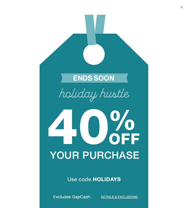 Gap Discount Codes December 2015