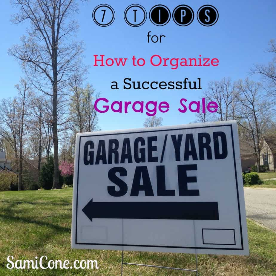 How to Organize a Successful Garage Sale!
