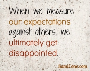 measure expectations get disappointed Almighty Ruler