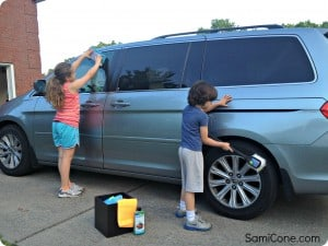 kids washing car washdrops 300x225 Green Outdoor Cleaning Tips in time for Summer