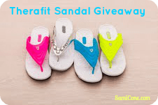 win a pair of therafit sandals