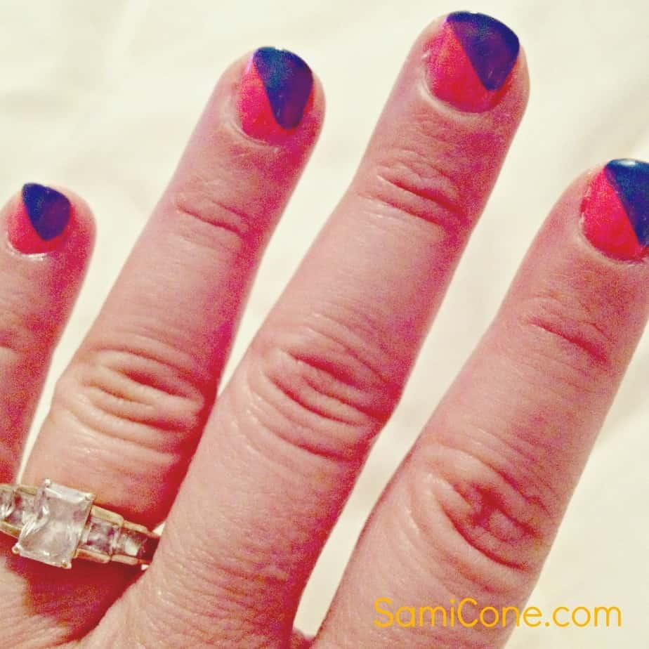 nail polish lines
