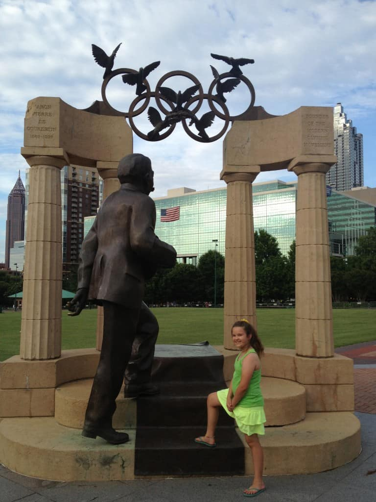 centennial olympic park atlanta girl mom weekend