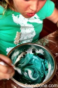 how to make goo color swirl