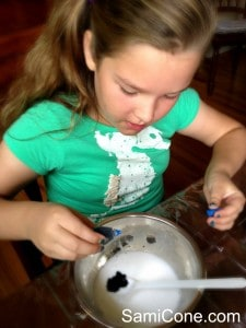 how to make kids goo food coloring