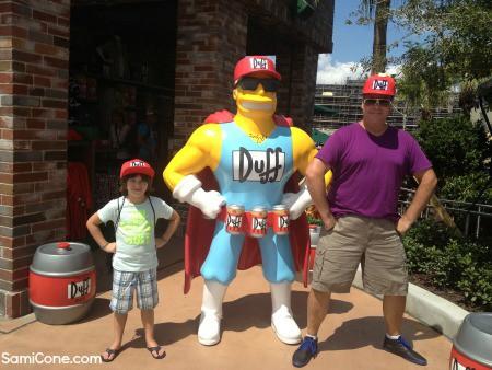 Universal Orlando Simpsons Duff Beer