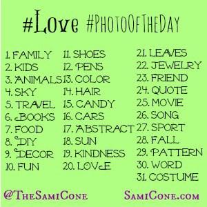 Love PhotoOfTheDay Instagram Photo Challenge October 2013
