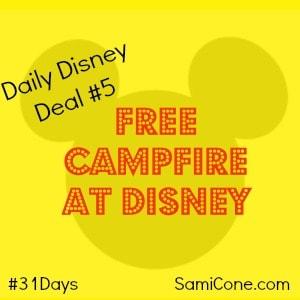 free campfire at disney
