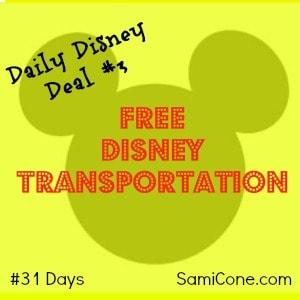 free disney transportation disney deals 31 days day 3