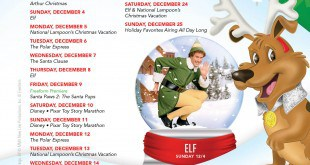 25 Days of Christmas Schedule 2016 (Your Holiday TV Favs!)
