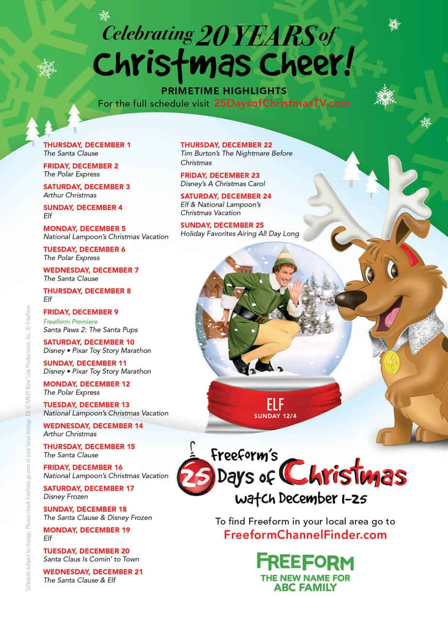 25 Days of Christmas Schedule 2016 (Your Holiday TV Favs!) | Sami ...