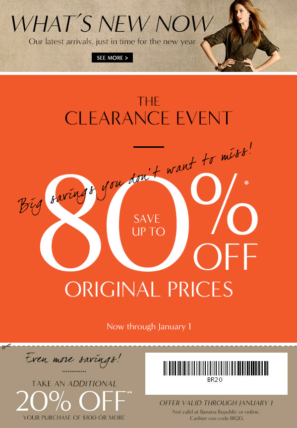 Discount coupons banana republic outlet