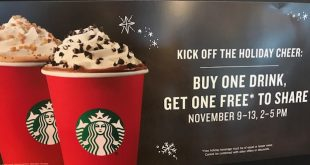 Free Starbucks Holiday Drinks