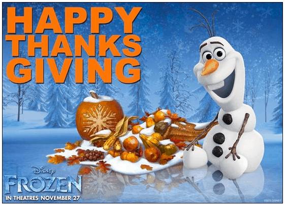 disney frozen movie Thanksgiving