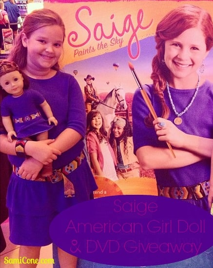 saige american girl doll giveaway dvd