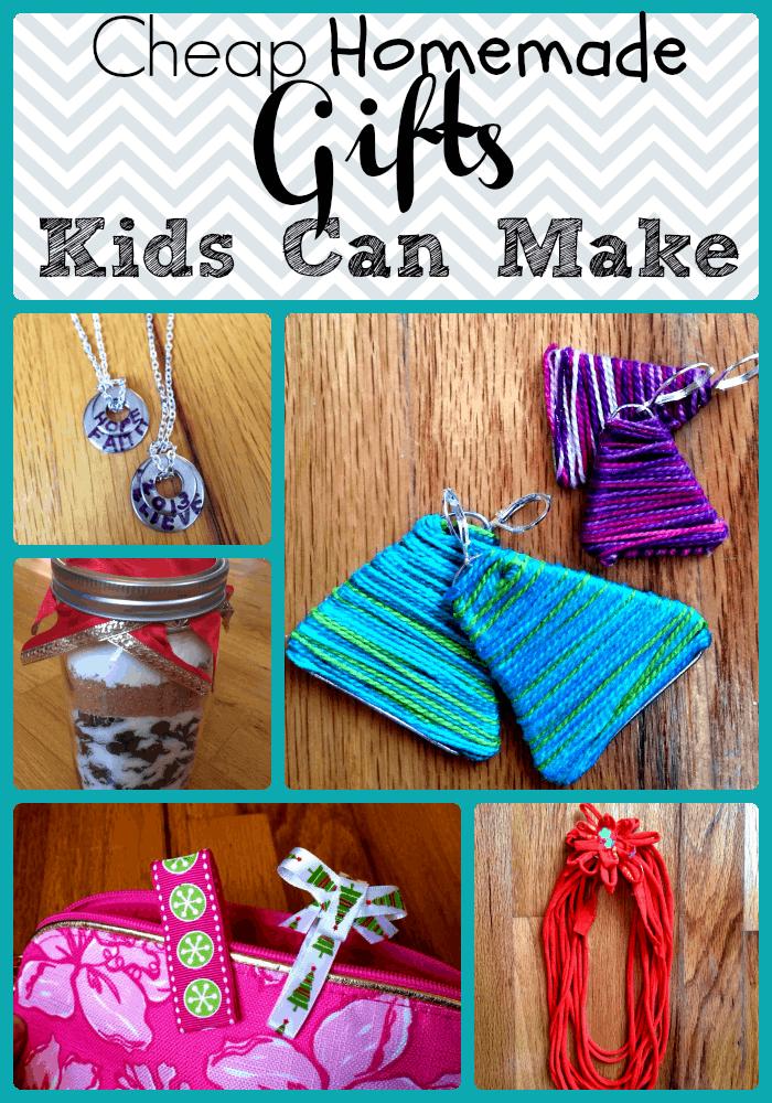 Cheap Handmade Gifts under $5 Kids Can Make