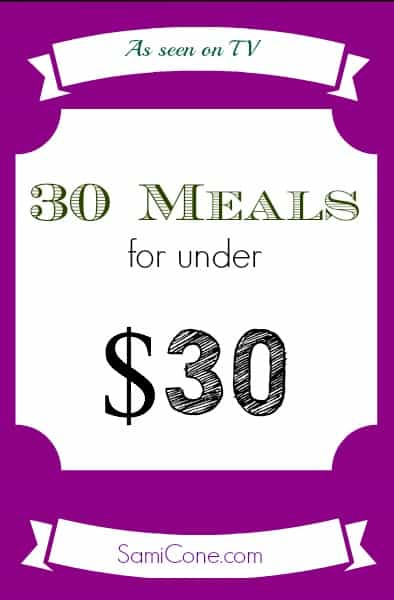 30 meals for $30