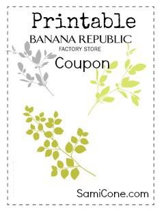 Printable Banana Republic Outlet Coupon 2014