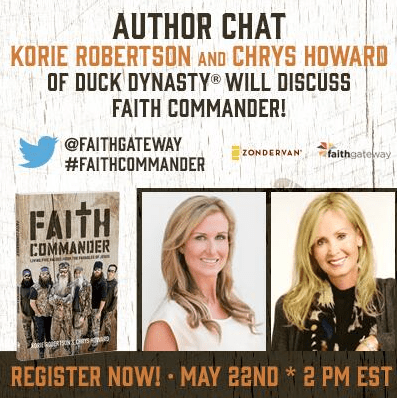 Duck Dynasty's Korie Robertson Live Chat!  {FaithGateway Author}