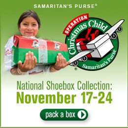 Operation Christmas Child Shoebox collection week 2014