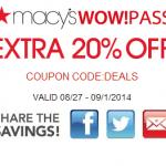 Macys Printable Savings Pass August 2014