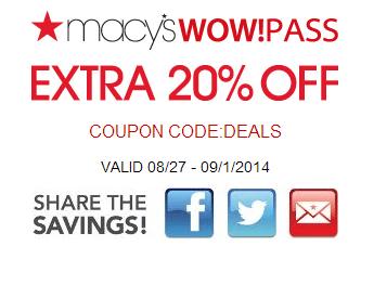 Macys Printable Savings Pass August 20142 Macys Printable Savings Pass September 2014