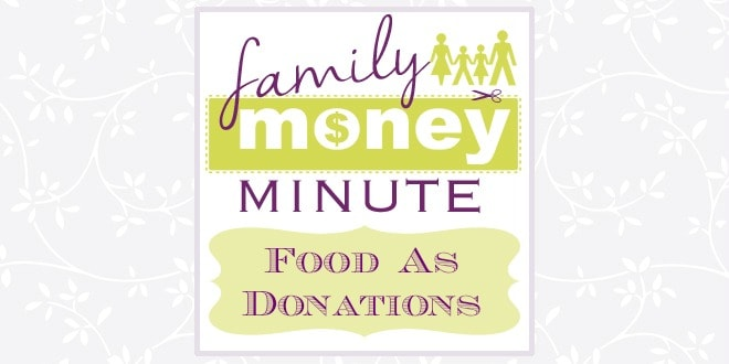 food as donations family money minute