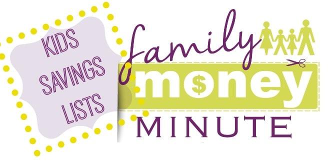 Kids Savings Lists Family Money Minute